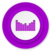 sound icon, violet button