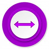 arrow icon, violet button