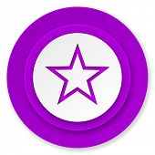 star icon, violet button