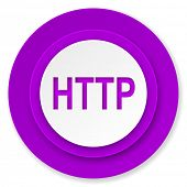 http icon, violet button