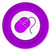 computer mouse icon, violet button