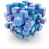 media icons cube
