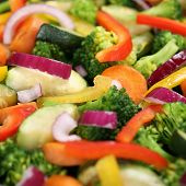 Cooking Food Vegetables Background In Pan