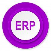 erp icon, violet button