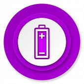 battery icon, volet button, power sign