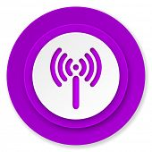 wifi icon, volet button, wireless network sign