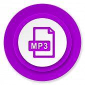 mp3 file icon, violet button