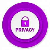 privacy icon, violet button