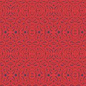 Vintage orange seamless waves pattern