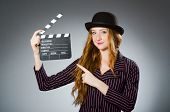 Young woman in movie concept
