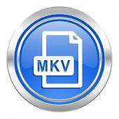 mkv file icon, blue button