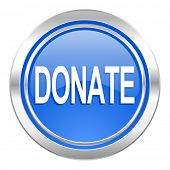 donate icon, blue button