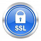 ssl icon, blue button