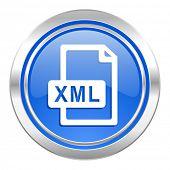 xml file icon, blue button