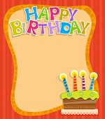 stock photo of birthday  - Festive birthday sign with Happy Birthday text - JPG
