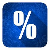 percent flat icon, christmas button