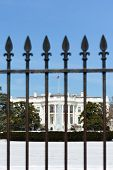 The White House and fences in Winter - Washington DC, United States of America