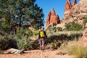 Hiking in Canyonlands park