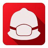 Flat icons of fireman helmet vector illustration