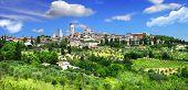 beautiful Toscana- view of San Gimignano