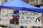 political slogans about Umbrella Revolution