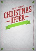 Chistmas Offer And Sale Advert Background