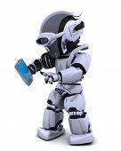 Robot With Palm Pilot