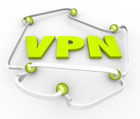 image of intranet  - VPN 3d letters surrounded by linked connections on a server - JPG