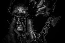 picture of indian chief  - tribal Native - JPG