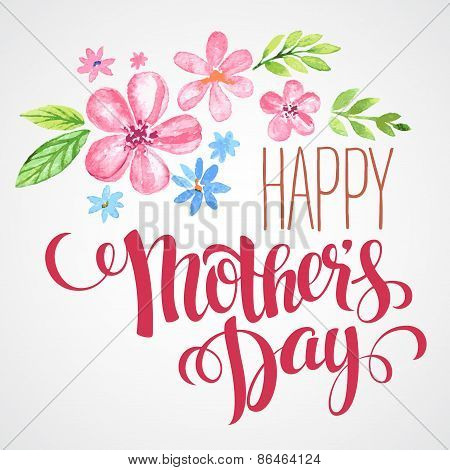 Happy Mothers Day. Hand-drawn card. Vector illustration