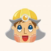 picture of firefighter  - Firefighter Theme Elements - JPG