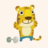 foto of cute tiger  - animal tiger cartoon theme elements - JPG