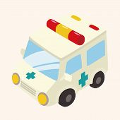stock photo of ambulance  - transportation ambulance theme elements - JPG