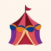 foto of circus tent  - Circus Tents Theme Elements - JPG