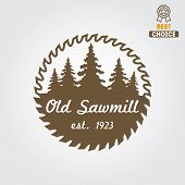 pic of carpentry  - Logo or logotype element for sawmill - JPG