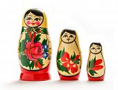 picture of doll  - Russian dolls matreshka on the white background - JPG