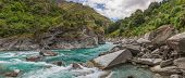 picture of tramp  - Panoramic photograph of Shotover river near Queenstown - JPG