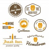 picture of brew  - Set of vintage logo or logotype elements for beer - JPG