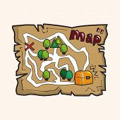 foto of treasure map  - treasure map theme elements - JPG