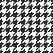 image of tartan plaid  - Houndstooth tile black and white pattern or seamless vector background for decoration wallpaper - JPG
