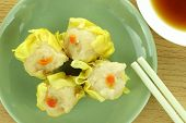 pic of siomai  - Shumai Chinese Steamed Pork Dumplings With Sauce - JPG