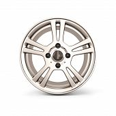 foto of alloy  - Alloy Wheel Rim front view isolated on white background - JPG