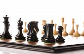image of chess piece  - Chess pieces setup before the game  - JPG
