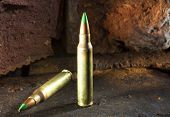 pic of cartridge  - Cartridges for a 223 that have green tipped bullets - JPG