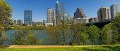 picture of texas  - Panoramic view of Austin Texas skyline taken at Town Lake - JPG