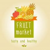 picture of fruit-juice  - Vector logo for a market of fruits - JPG