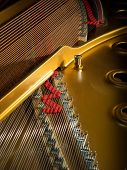 pic of grand piano  - interior of a concert grand piano  - JPG