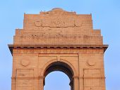 stock photo of india gate  - Close view of India Gate in New Delhi - JPG