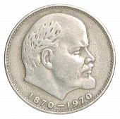 foto of lenin  - Russian silver ruble with a portrait of Lenin - JPG