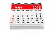 Постер, плакат: Calendar May 2015